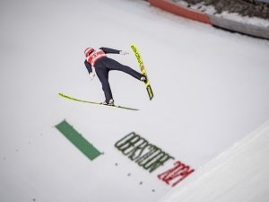 Constantin Schmid (GER) competes in the Men Normal Hill Individual competition round