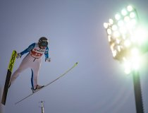 Maren LUNDBY (NOR) competes in the Ski Jumping Women Large Hill Individual
