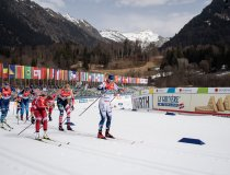 Athletes compete in the Cross Country Women's Relay 4x5.0 km