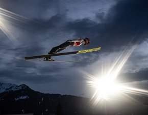 Stefan KRAFT (AUT) competes in the Men Large Hill Individual Qualification