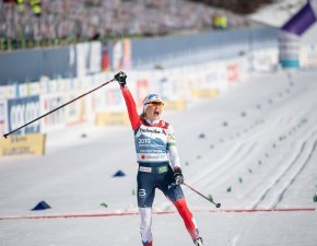 World Champion Therese Johaug of Norway competes during the Cross Country Women 30KM Mass Start Classic