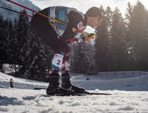 Lukas Greiderer (AUT) competes during the Cross Country Men Nordic Combined Team Sprint LH/2x7.5km
