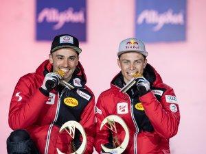 World Champion Johannes Lamparter and Lukas Greiderer of Austria