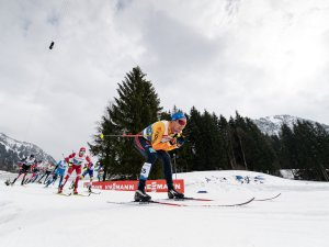 Lucas Boegl of Germany competes during the Cross Country Men 50.0 km Mass Start Classic
