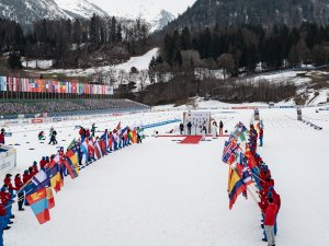 General view during the closing ceremony