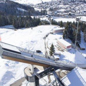 Die Normalschanze in der WM Skisprung Arena