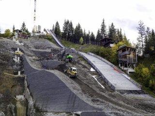 Baumaßnahme Skisprungstadion 23.10.2019