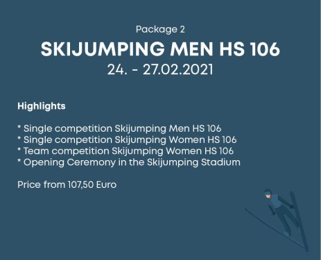 Package 2 Skijumping Men HS 106