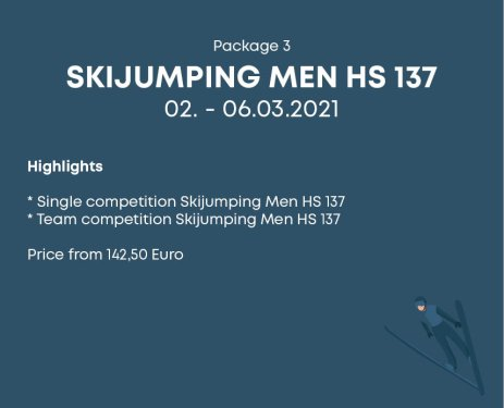 Package 3 Skijumping Men HS 137