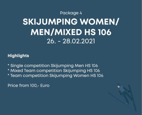 Package 4 Skijumping Women Men Mixed HS 106