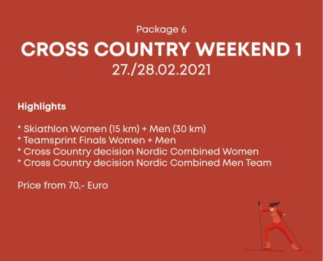 Package 6 Cross Country Weekend 1