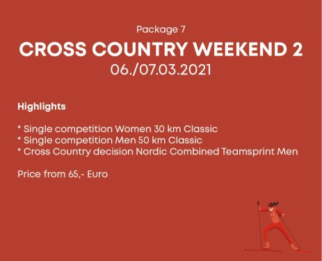 Package 7 Cross Country Weekend 2