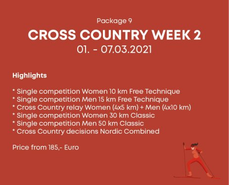 Package 9 Cross Country Week 2