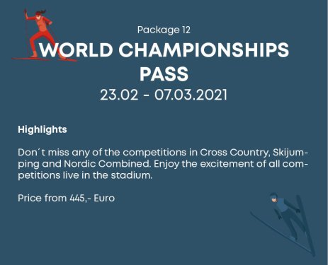 Package 12 World Championships Pass