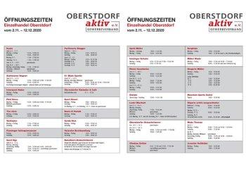 Öffnungszeiten Einzelhandel Oberstdorf 2020