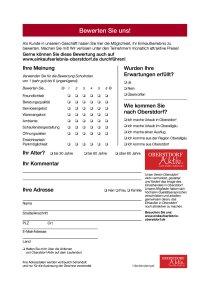 Bewertungsbogen