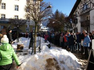 Tausende Zuschauer waren begeistert von den Kunstwerken der Oberstdorfer Eiszeit
