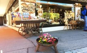 Fruehlingshaftes Oberstdorf Blumenschalen