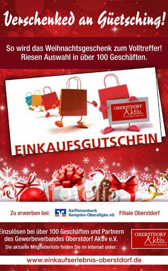 Oberstdorfer-Einkaufsgutschein Weihnachten