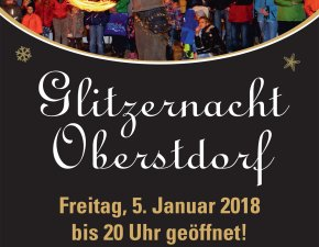 Flyer Glitzernacht 2018 vorne