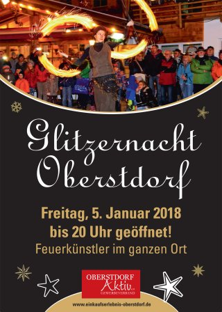 Flyer Glitzernacht 2018 vorne