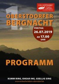 Oberstdorfer Bergnacht Programmflyer