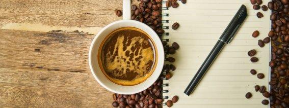 Kaffeetasse Schreibblock