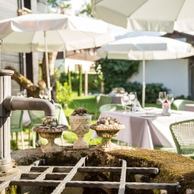 Champagner Garten im Maximiilians