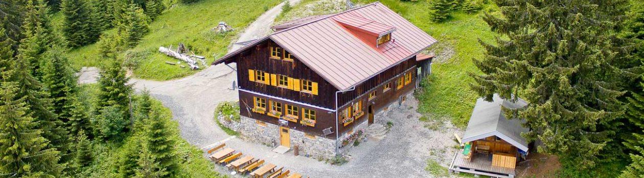 Wannenkopfhütte bei Oberstdorf im Allgäu