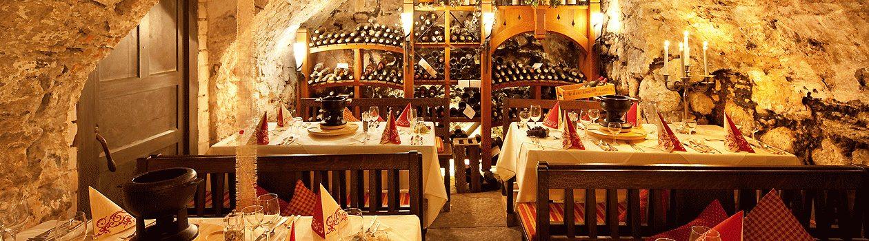 Weinkeller des Hotel Mohren