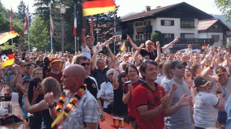 Jubel nach einem deutschen Tor