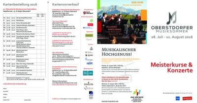 Programm Oberstdorfer Musiksommer 2016