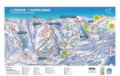Panoramakarte Ski-Oberstdorf-Kleinwalsertal