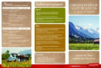 Programm Naturgenuss Frühling 2018