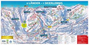 Panoramakarte Skigebiet Oberstdorf/Kleinwalsertal
