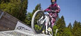 schwere bis anspruchsvolle Hindernisse im Bikepark