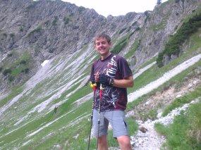Fabian beim Wandern