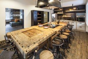 Die Küche im Oberstdorf Hostel