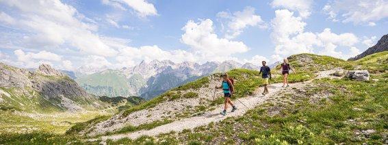 Zu dritt auf Bergtour