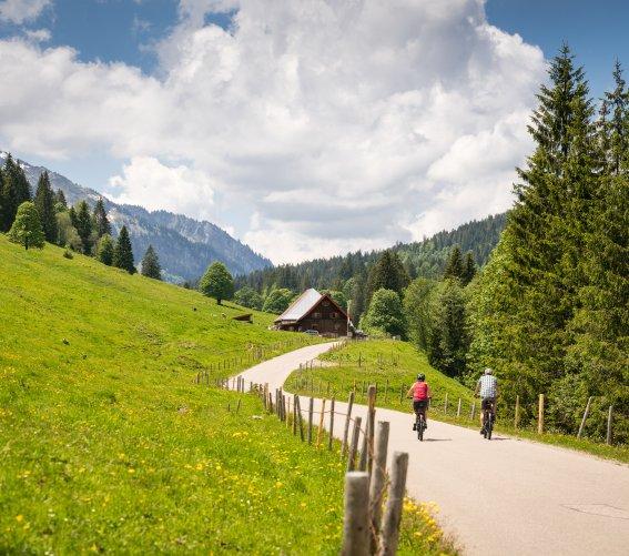 Auf dem Weg zur Alpe Schattwald