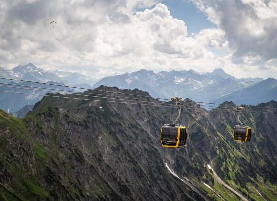 Hoch hinaus mit der Nebelhornbahn