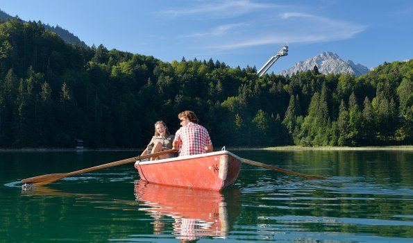 Paar im Boot