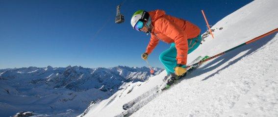 Gipfelabfahrt am Nebelhorn