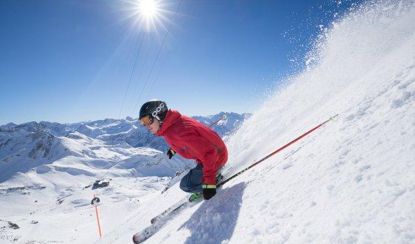 Skifahrer am Nebelhorn