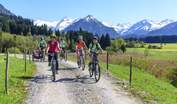 Radfahren im Frühling