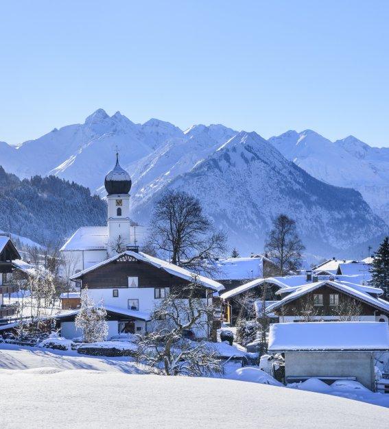 Winterpanorama Schöllang