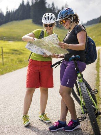 Orientierung mit der Radtourenkarte