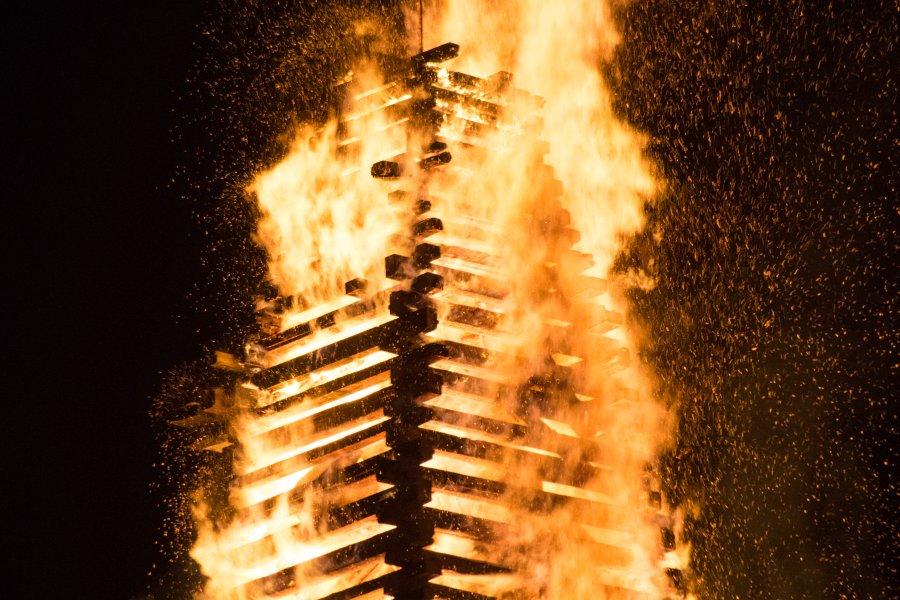 brennender Funken