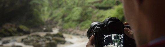 Fotograf in der Breitachklamm
