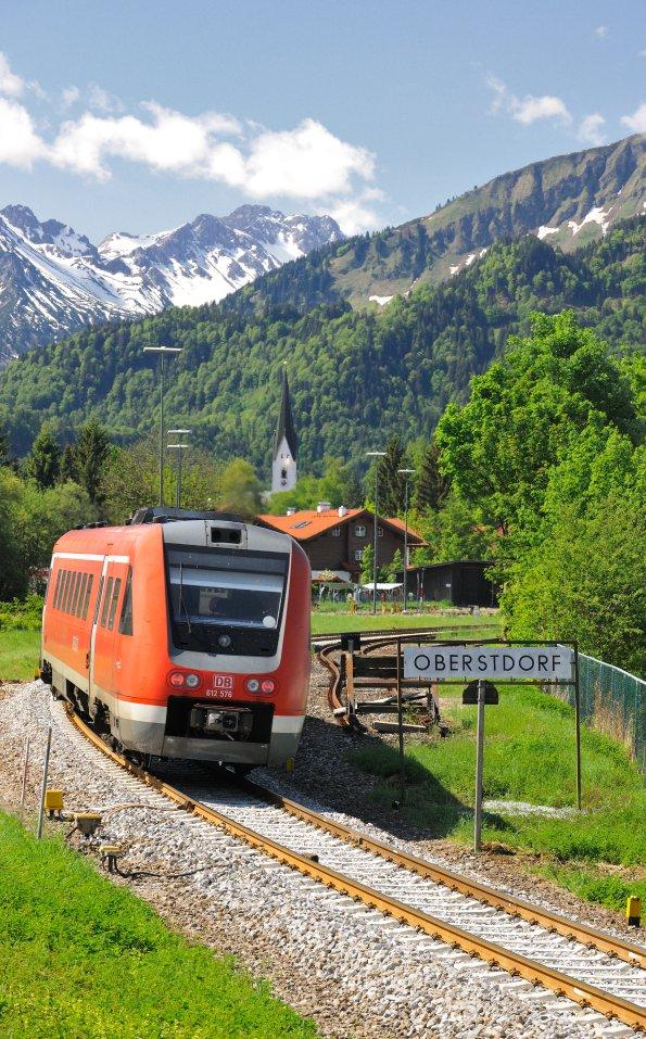 Ankunft in Oberstdorf